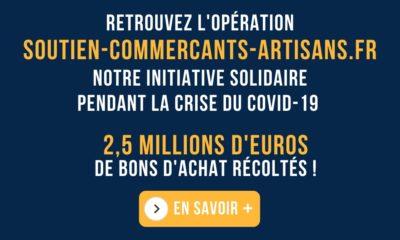 Opération Soutien-Commercants-Artisans.fr par Petitscommerces, 1ère initiative nationale pour les commerçants pendant la crise du covid-19