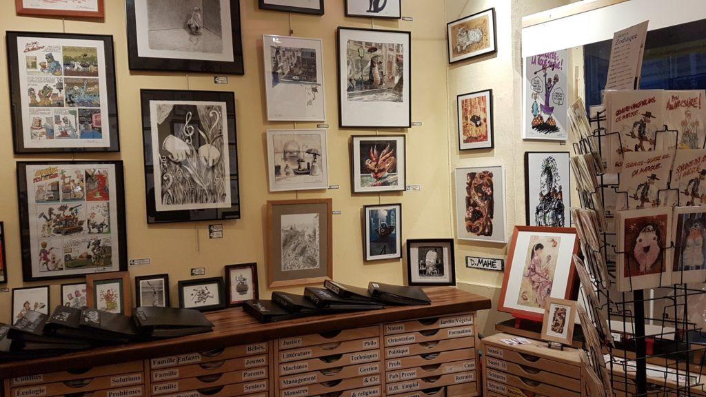 le-comptoir-du-dessin-boutique-atelier-galerie-gerard-mathieu-clotaire-rue-de-liege-paris-8-illustrateurs-dessinateurs-bellamy-po-bittler-creach-gerablie-cochard