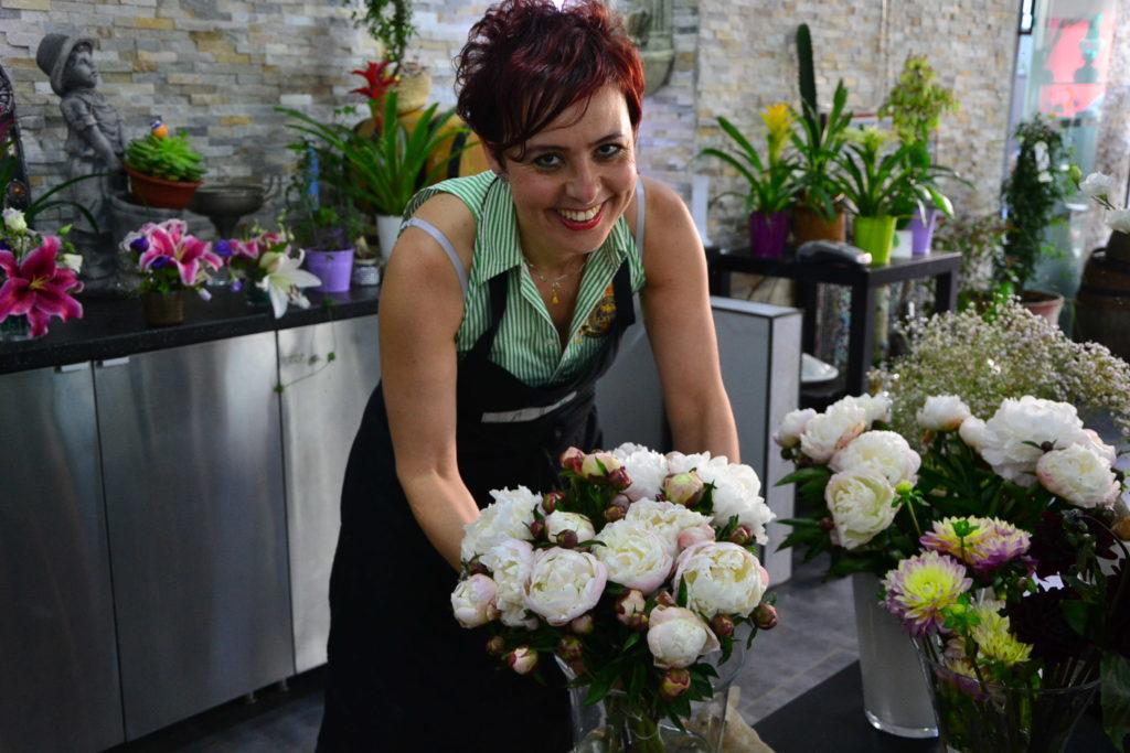 Les Jardins d-Andalousie fleuriste fleurs 2 paris 18 marcadet poissonniers petit commerce Yasmine www.petitscommerces.fr pivoines