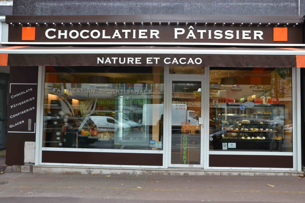 Nature & Cacao, chocolaterie bio pâtisserie chocolatier Argenteuil Gabriel Péri devanture