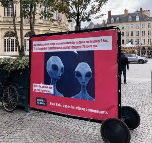 À Rennes, l'association de commerçants a tout compris pour inciter les consommateurs à acheter local !