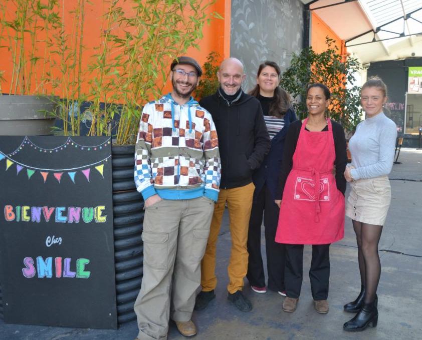 Équipe Smile Argenteuil Café Cantine Épicerie vrac Petitscommerces