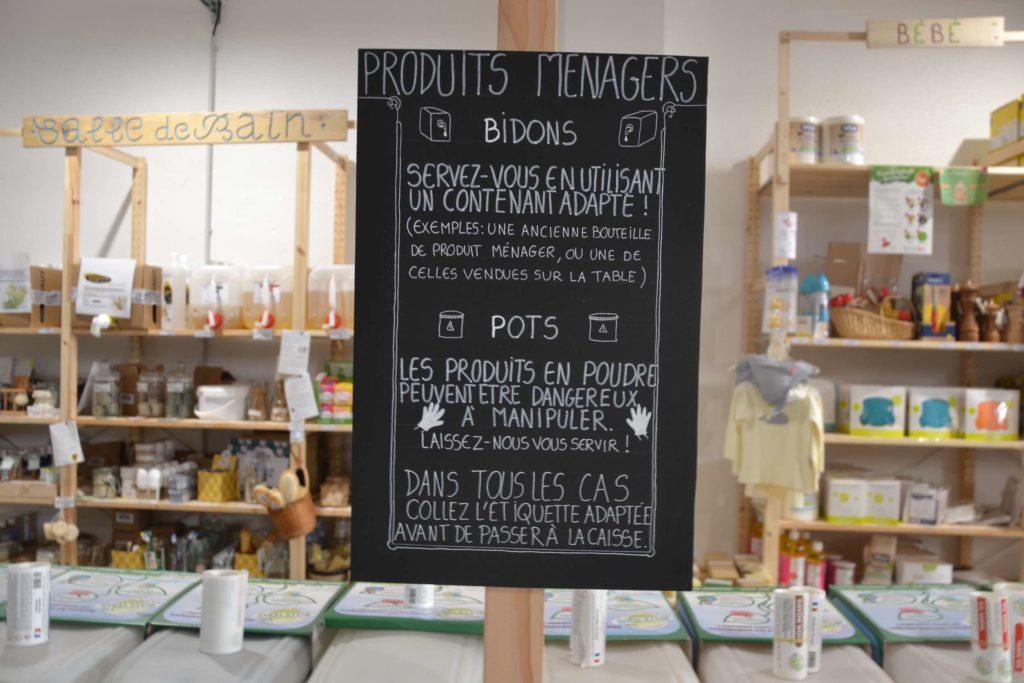 Smile Argenteuil épicerie vrac bio locale zéro déchet café cantine vegan 55 rue Antonin Georges Belin pancarte2