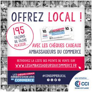 Offrez Local Chèque cadeau Ambassadeurs du commerce CCI Seine et Marne