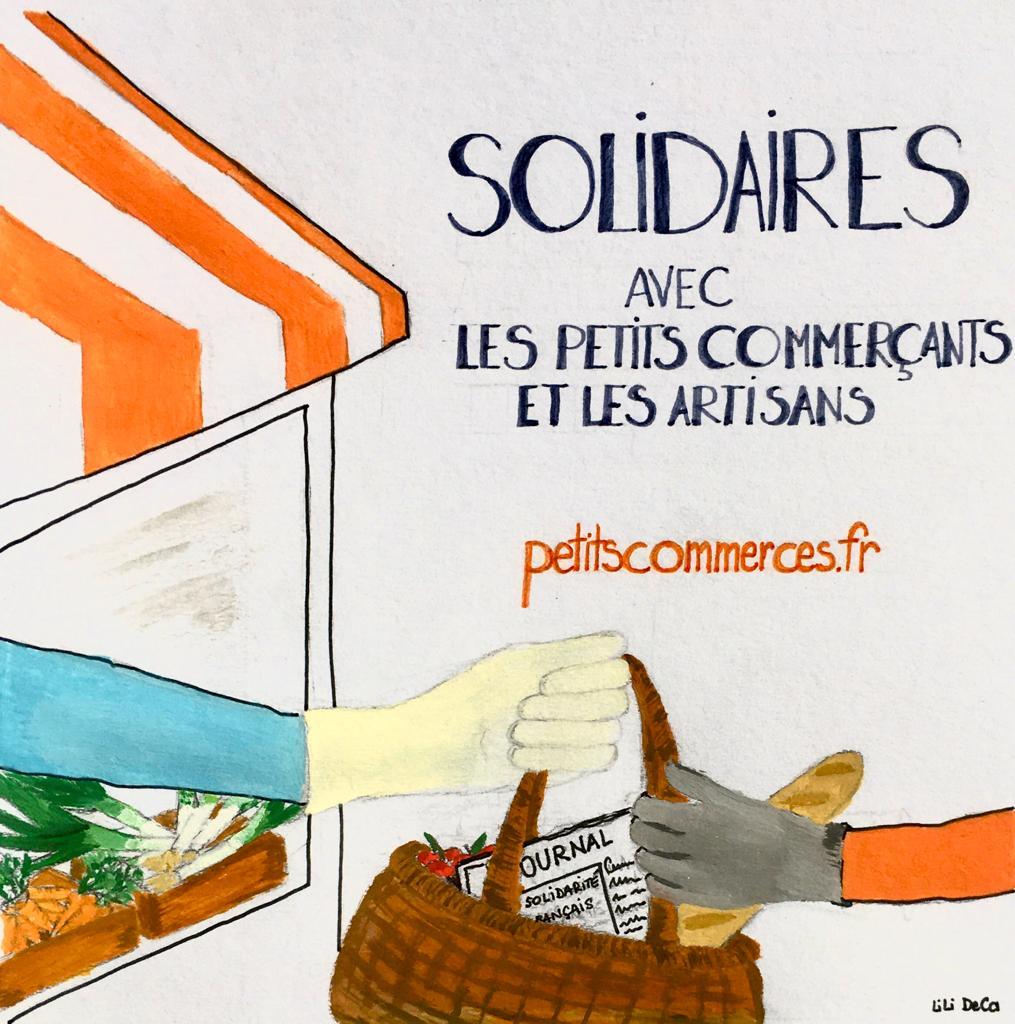Tous solidaires avec les petits commerçants et les artisans !