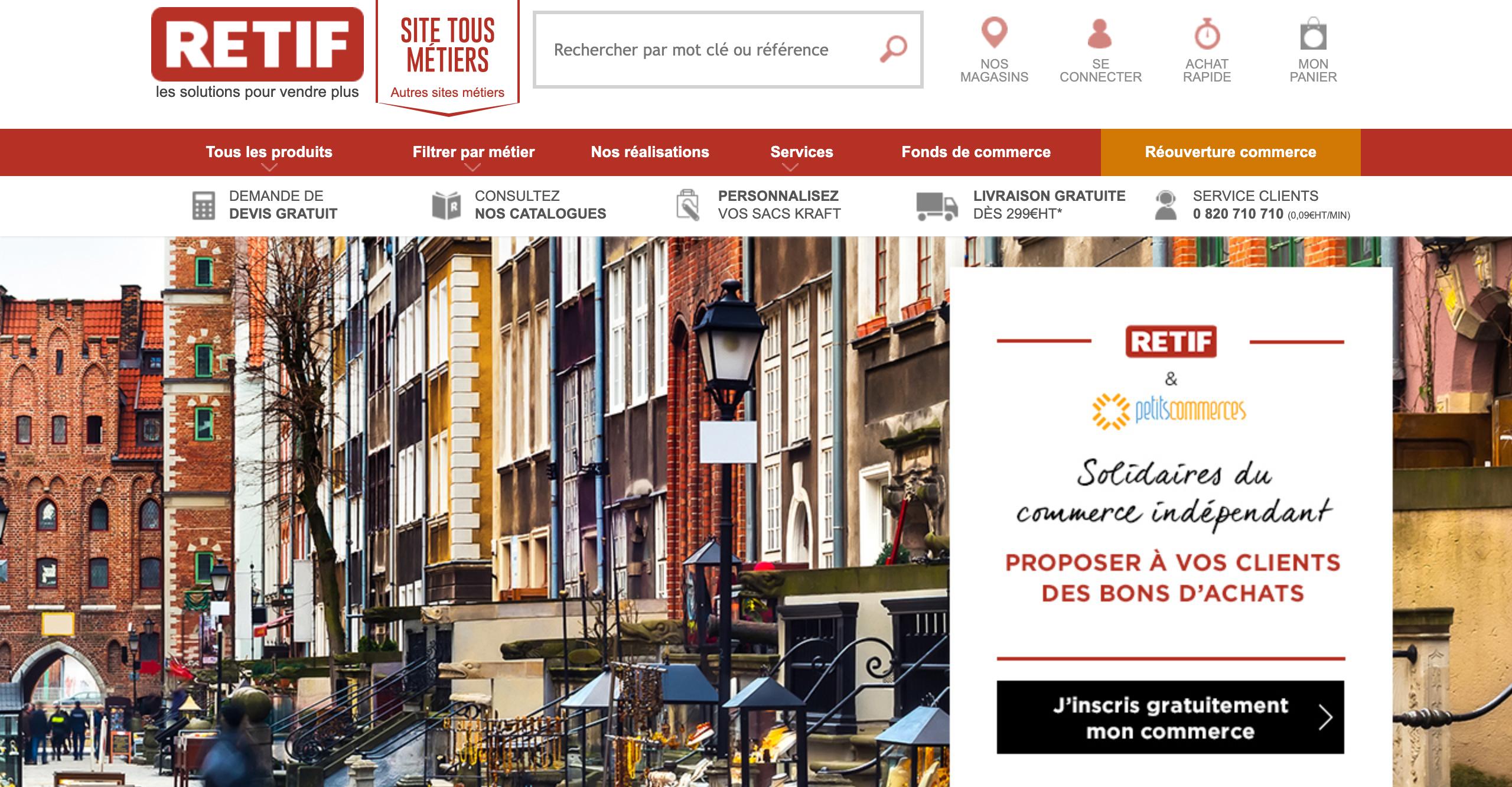 RETIF Partenaire Petitscommerces.fr