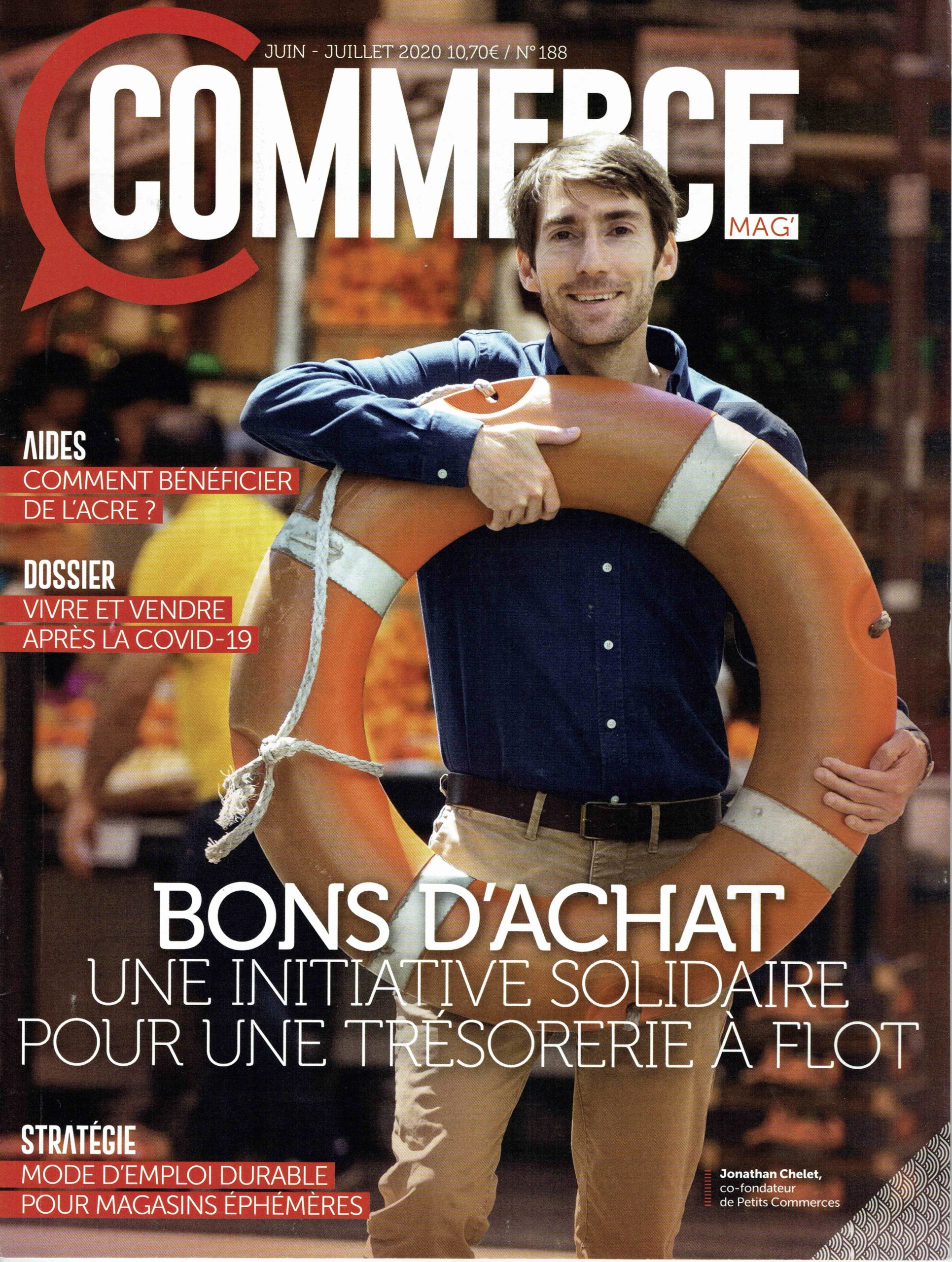 Jonathan Chelet Petitscommerces Couverture Commerce Magazine Petitscommerces.fr