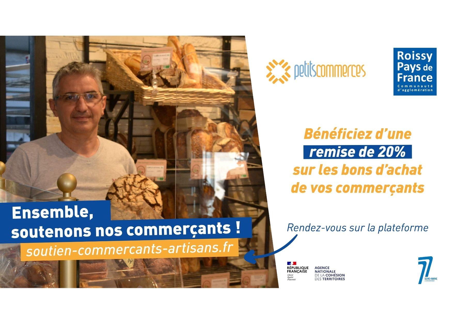 Succès de l'opération bons d'achat solidaires dans l'agglomération Roissy Pays de France !
