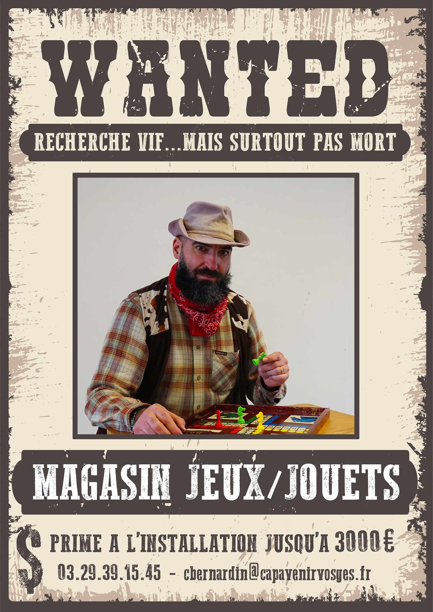 Dans les Vosges, le manager de centre-ville se transforme en shérif pour attirer de nouveaux commerçants !