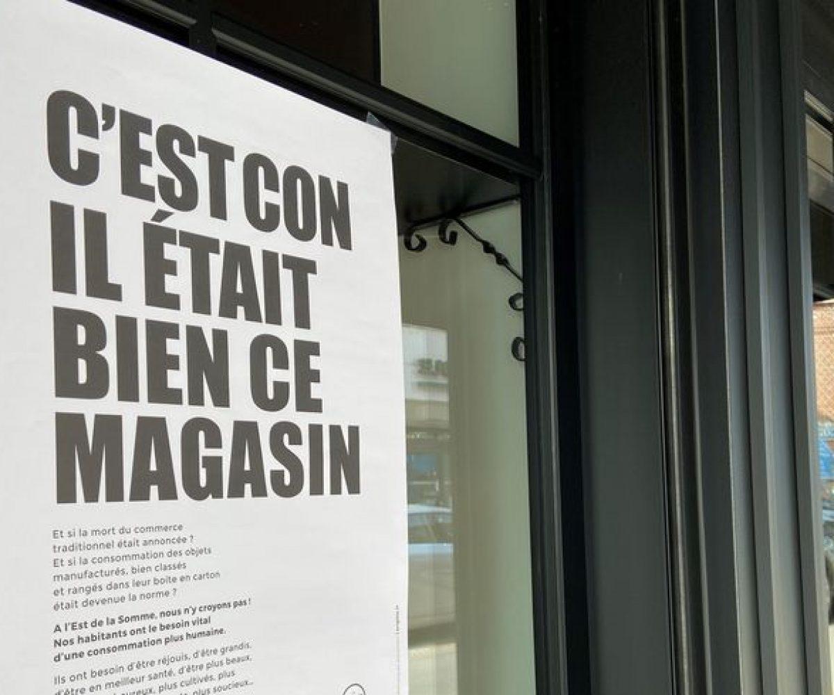 «C'est con, il était bien ce magasin» : la campagne qui choque pour faire réagir les habitants affiche
