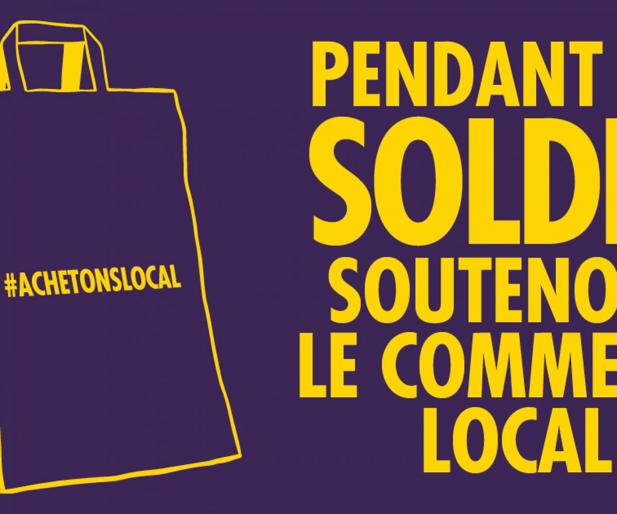 Acheter local pendant les soldes, c'est tendance ! Rennes