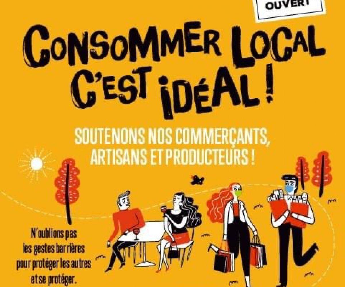 Consommer local c'est l'idéal Rueil Malmaison Campagne de communication Soutenir le commerce local le réflexe du monde d'après coronavirus