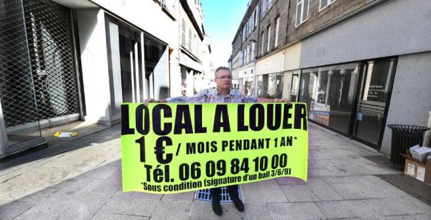 Dans la Creuse, des locaux commerciaux à 1 euro