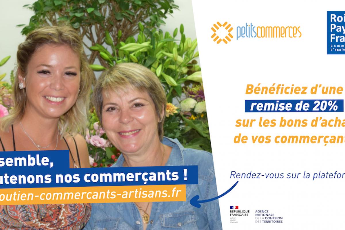 L'agglomération Roissy Pays de France soutient ses commerçants avec des bons d'achat !