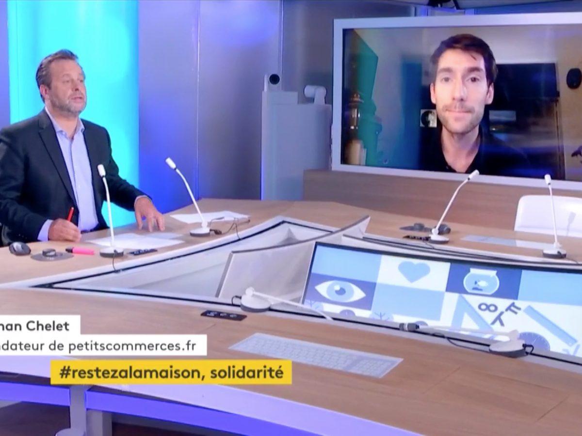 L'initiative Soutien-Commercants-Artisans.fr de Petitscommerces sur FranceTV Info