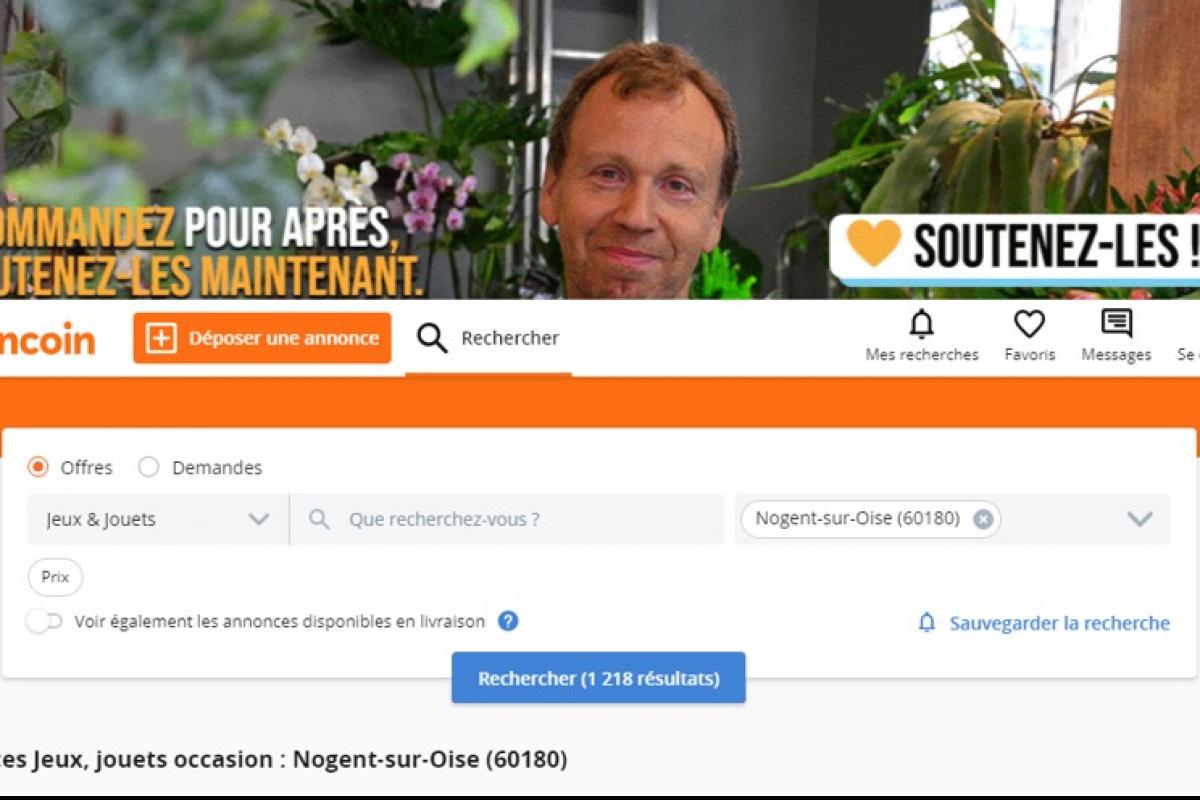 Soutien-Commercants-Artisans.fr sur Leboncoin Partenaire Petitscommerces.fr Soutien-Commercants-Artisans.fr