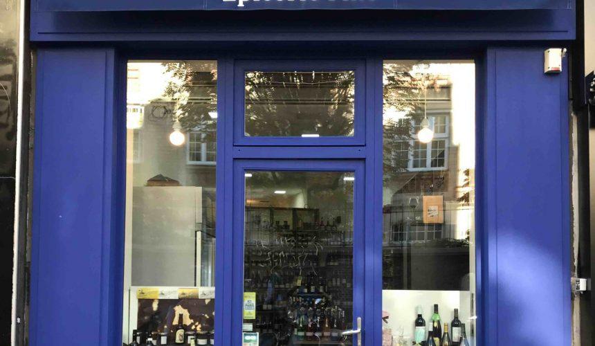 Epicerie fine des Accords Gourmands cave à vins épicerie fine rue du Château-d'Eau Paris 10 devanture caviste petits producteurs champagnes bieres