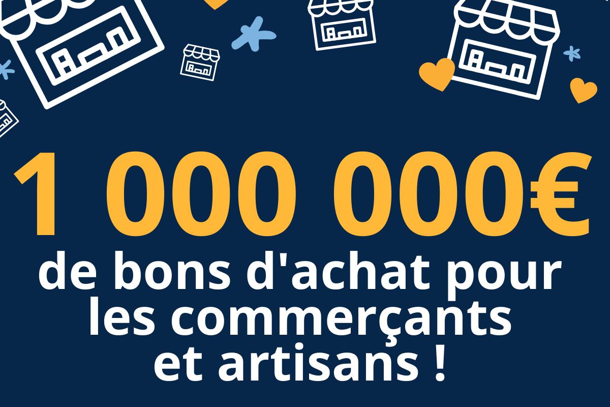 Petitscommerces 1 million d'euros collectés sur Soutien-Commercants-Artisans.fr