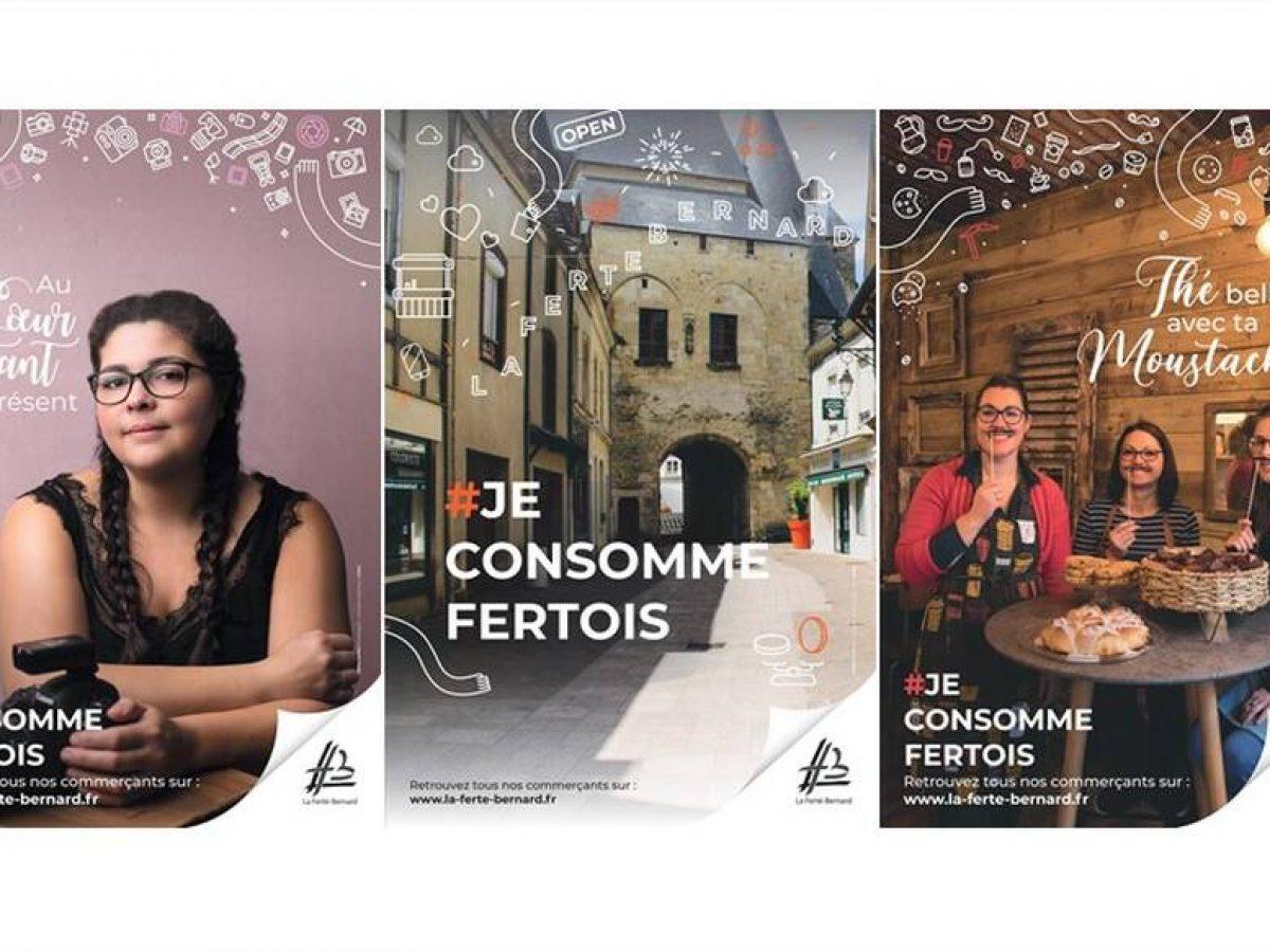 #jconsommefertois à La Ferté-Bernard campagne communication commerces de proximité Petitscommerces